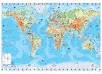 Nástěnná dětská mapa Světa lamin. s lištou v tubusu