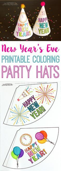 Diy Party Hats  Free Printable Template  Birthday General Kids