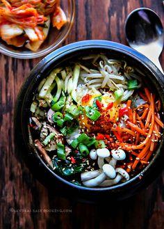 Vegetarian Mixed Rice Bowl-Bibimbap
