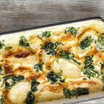Découvrez la recette de Gratin de pommes de terre et épinards, Plat à réaliser facilement à la maison pour 4 personnes avec tous les ingrédients nécessaires et les différentes étapes de préparation. Régalez-vous sur Recettes.net