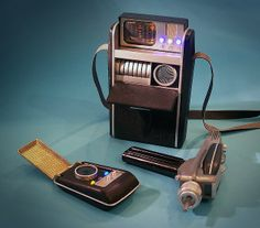 I usually only pin vintage Star Trek items, but these are so amazing I'll make an exception: The Tricorder, Phaser and Communicator from the original Star Trek. These are the Diamond Select toys. Very impressive in their accuracy and detail