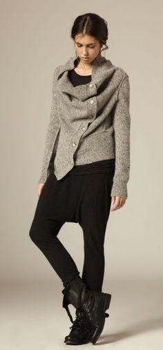 cozy grey & black