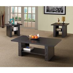 Shop for 3-Piece Black Oak End and Coffee Table Set. Get free shipping at Overstock.com - Your Online Furniture Outlet Store! Get 5% in rewards with Club O!