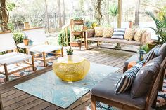 Prep your patio this spring using our roundup of favorite outdoor spaces from past Glitter Guide home tours!