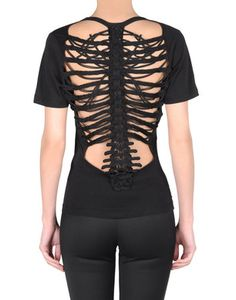 Reminiscent of a rib cage. #shirt #goth #gothic #fashion #women #blouse #skeleton
