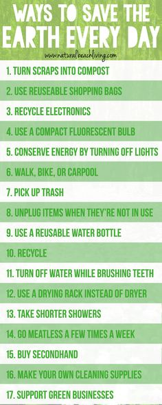 20 Easy Ways to Save the Earth Every Day Going green can be easy with a few simple changes There are little things you can do every day to help reduce gases help with pol. Save Planet Earth, Save Our Earth, Love The Earth, Save The Planet, Natural Living, Simple Living, Organic Living, Earth Day Tips, Save Mother Earth