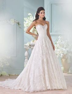 These remarkable David Tutera for Mon Cheri wedding dresses define glamorous bridal fashion and captures the personality of every bride on her wedding day. From high quality fabrics, rich feminine lace, hand-beaded Swarovski crystals to flattering silhouettes, this gorgeous 2016 collection is filled with the most stunning styles for every bride. David Tutera for Mon […]
