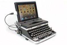 Typewriter keyboard.      ギズモード・ジャパンより転載 : タイプライターじゃなきゃ文字入力した気にならないよ、という人にオススメ。アメリカのジャック・ズ...