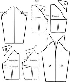 Learn To Draw Manga - Drawing On Demand Coat Patterns, Dress Sewing Patterns, Blouse Patterns, Clothing Patterns, Pattern Cutting, Pattern Making, Sewing Hacks, Sewing Tutorials, Textile Manipulation