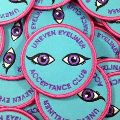 """The perfect patch for those of us who have given up on perfect liner. The struggle is IMPOSSIBLE. These are a cute little size of 2.5"""" x 2.5"""""""