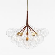 Pelle's Bubble Chandelier, now with choice of cording and finishes