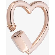 Marla Aaron Baby Heart Lock Charm ($515) ❤ liked on Polyvore featuring jewelry, pendants, 14k jewelry, heart shaped jewelry, rose gold charms, red gold jewelry and charm jewelry