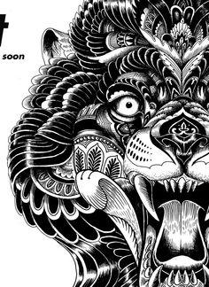 Secret Store Illustration Amazing Tattoos, Cool Tattoos, Medium Art, Tattoos For Guys, Aztec, Folk Art, Tatting, Chinese, Black And White