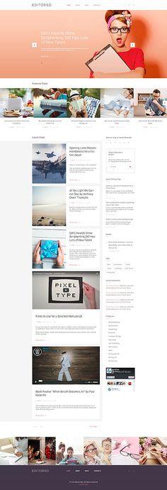 Template 58513 - Editorso Writer  Responsive WordPress  Theme