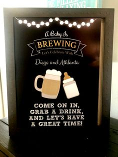 A Baby is Brewing 👶🏻🍺 Baby Shower sign - A Baby is Brewing Baby Shower - Baby Brewing shower sign 608548968383417553 Unisex Baby Shower, Baby Shower Niño, Baby Shower Signs, Baby Shower Gender Reveal, Baby Shower Games, Man Shower, Diaper Parties, Couples Baby Showers, Baby Shower Printables
