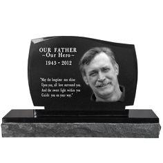 Wholesale Photo Laser Engraved Granite Headstone- Legacy