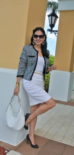 Summer Tweed Jacket Look - Susana Fernandez   A Key to the Armoire