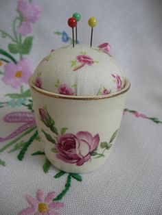 Vintage Egg Cup Pincushion £4.50