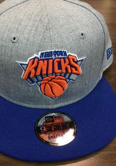 more photos 93e7c c9f53 New Era New York Knicks Grey Heather 9FIFTY Mens Snapback Hat, Grey, 100%