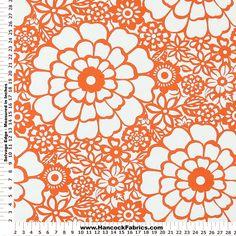 Orange Fiesta Home Decor Fabric - Mediumweight Multi Purpose Fabric Prints Hancock Fabrics, Sew Simple, Home Decor Fabric, Craftsman, Printing On Fabric, Purpose, Sweet Home, House Design, Orange
