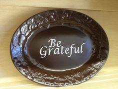 Thanksgiving plate repurposed at Better Than Ever, Paducah, KY. Pick up some dishes at Anything Goes Trading Co. when they have their famous parking lot sales!
