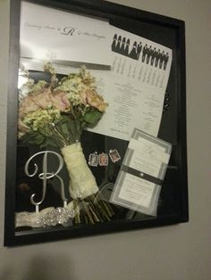 DIY Wedding Shadow Box