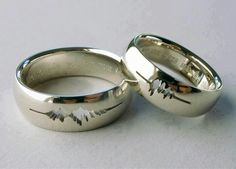 Your partners heart beat engraved in your wedding band