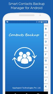 No signing in, no accounts, no activations required to take backup of your contacts