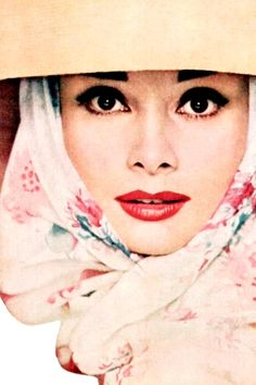 Audrey Hepburn photographed by Richard Avedon for the cover of Harper's Bazaar, April 1956 issue