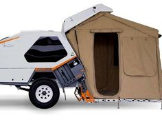 Head for the hills with the Track Tvan camper trailer