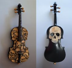 If you like violins and skulls you will definitely love this amazing Skull Violin by Mark Noll