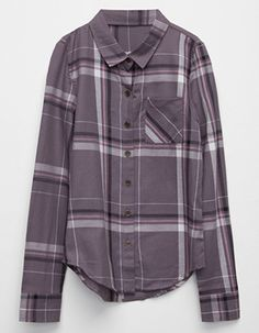 FULL TILT Boyfriend Girls Plaid Shirt Grey