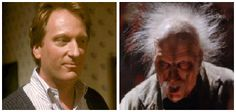 Character: Dr. Walter Jenning and the Dark Overlord of the universe,  Movie: Howard the Duck,  Year: 1986,  Portrayed by: Jeffery Jones,  Make-up by: Thomas R. Burman and Bari Dreiband-Burman.