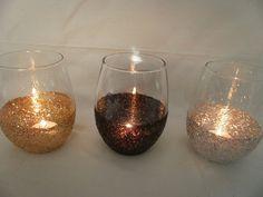 Candle Holders, Flower Vase, Glitter Vase, Glitter Candle Holder. Style Me Pretty