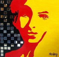 -Maria- Mixed Media on Canvas FREE SHIPPING Worldwide  Artist: Velazquez, Karlo H  Artwork title: Maria