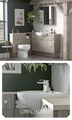 Make the most of a small or awkward space when designing your bathroom layout. Utopia's original Fitted range includes sleek Reduced Depth furniture and washbasins. Small Space Bathroom, Small Tub, Bathroom Layout, Bathroom Ideas, Fitted Bathroom Furniture, White Furniture, Ceiling Mounted Shower Head, Room Tiles, Cupboard Storage