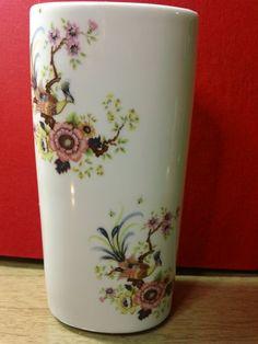 Vintage Limoges Porcelain Vase with Pheasant and Floral Design
