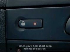 How to enable auto-locking central lock in Renault Clio/Thalia, Dacia Logan