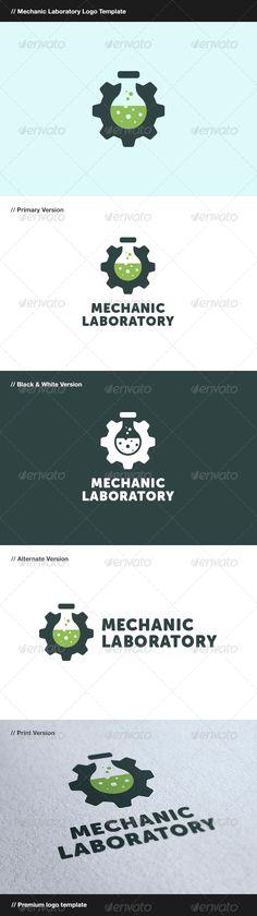Mechanic Laboratory - Logo Design Template Vector #logotype Download it here: http://graphicriver.net/item/mechanic-laboratory/8199430?s_rank=562?ref=nexion