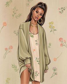 Fashion Illustration Sketches, Fashion Poses, French Fashion, Designer Dresses, Kimono Top, Ideas, Fashion Design, Clothes, Women