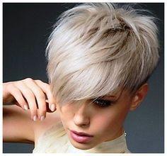 short hair with long bangs - Google Search