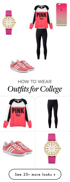 """""""Chill workout outfit!"""" by dancerlove7 on Polyvore featuring Jockey, adidas Originals, Victoria's Secret, Casetify and Kate Spade"""