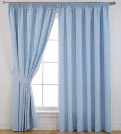 Dotty Blackout Curtains - Blue - at the fantastic price of sold by Ideal Textiles. Dotty Blackout Curtains - Blue - can be found in our Pencil Pleat Curtains category along with other products.