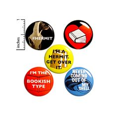 Hermit Buttons Funny Introvert 5 Pack of Backpack Pins Sarcastic Pinbacks Cute Lapel Pins Book Badges Introvert Gifts Gift Set 1 Inch Work Jokes, Work Humor, Gym Humor, Introvert Quotes, Introvert Funny, Infj, Witty Comebacks, Funny Buttons, Weird Gifts