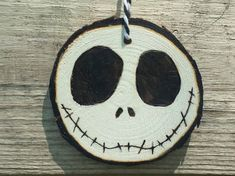 Jack Wood Slice Ornament by MoonbeamsMuchness on Etsy                                                                                                                                                                                 More