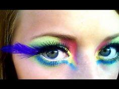Tropical Bird Halloween Makeup Tutorial - YouTube