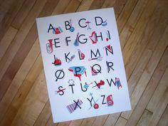 Alphabet Poster Musical ABC's. $30.00, via Etsy.