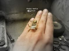 ring silver & brass