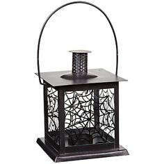 Buy John Lewis Spiders Web Lantern Candle Holder, Black online at JohnLewis.com - John Lewis