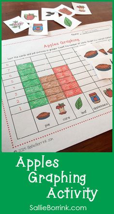 This fun hands-on activity will help your students practice their graphing skills. They will sort the colorful apple-themed picture cards, count and graph!